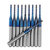 Drillpro 10pcs 1.1-1.5mm Blue NACO Coated PCB Bits Carbide Engraving Milling Cutter For CNC Tool Rotary Burrs