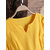 Women Casual Pure Color V-Neck Cotton Linen Half Sleeve Dress