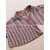 Casual Women Cotton Striped Stand Collar Button Long Sleeve Blouse