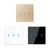 KTNNKG 3 Channel 433MHz 86 Wall Touch Remote Control Switch Wireless RF Transmitter Tempered Glass Panel