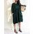 Women Casual Solid Color Loose Cotton Shirt Dress with Pockets