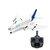 WLTOYS A120-A380 Airbus 510 mm Envergadura 2.4 GHz 3CH RC Drone Avión RTF de ala fija con modo 2 Control remoto Controlador Escala Aeromodelling