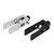 DUE TREES® Kit di profili in alluminio tenditore sincrono Cintura asse X nero / argento 2020 per parti di stampante 3D