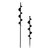 6.6x42cm / 6.6x62cm Planter Garden Auger Spiral Drill Bit Earth Planting Auger Drill Bit for Electric Drill