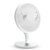LyRay USB Desktop Fan Mini Office Mute Fan Air Circulation Automatic Frequency with 2000mAh Battery Capacity - White