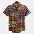 Mens Patchwork Modello Camicie con stampa floreale hawaiana estiva stile etnico