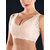 Front Zipper Lace Jacquard Comfy Breathable Wireless Padded Crop Bra