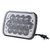 5X7 Inch H4 13 LED Headlights High Low Dual Beam Light with Atmosphere Lamp DC9-32V 40W for Jeep Grand Cherokee Dodge