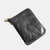 Men Faux Leather Small Vintage Anti-Theft Chain Wallet Zipper Coin Wallet
