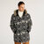 Mens Cotton Multi Printing Thickened Down Jacket Warm Mid Long Casual Coats