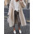 Women Long Sleeve Turn-down Collar Solid Thick Maxi Coats