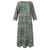 Kadınlar Uzun Kollu Baskılı Çiçek Etnik Baggy Gevşek Uzun Maxi Elbise