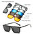 5 in 1 TR-90 Polarized Magnetic Glasses Clip On Magnetic Lens Sunglasses UV-proof Night Vision with Leather Bag