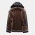 Erkek Modası PU Fermuar Windproof Kapşonlu Sıcak Kalınlaşmış Casual Ceket