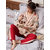 Leisure Cotton Laced Printed V-Neck Kimono Kurta Pajama Set