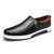 Men Genuine Leather Casual Soft Sole Side Zipper Business Office Oxfords