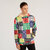 Ethnic Colorful Printing Hooded Drawstring Long Sleeve Casual Sweatshirt