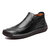 Men Genuine Leather Side Zipper Soft Business Casual Oxfords