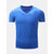 Men's Pure Cotton Leisure Tops Fashion V Collar Short Sleeved T-shirts