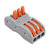 Excellway 3Pin Wire Docking Connector Termainal Block Universal Quick Terminal Block SPL-3 Electric Cable Wire Connector Terminal 0.08-4.0mm²
