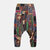 Men Splicing Color Block Ethnic Style Casual Hanging Pants