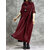 Women Casual Solid Color Long Sleeve Maxi Dress