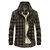 Plus Size Casual Plaid Inside Fleece Business Turn Down Collar Thick Jacket
