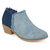 Large Size Women Solid Color Slip On Chunky Heel Chelsea Ankle Boots