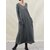 Women Solid V-neck Long Sleeve Causal Maxi Dress