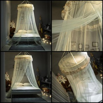 Princess Hanging Round Lace hemelbed Netting comfortabele student Dome Muggennet insect Bed Canopy Net