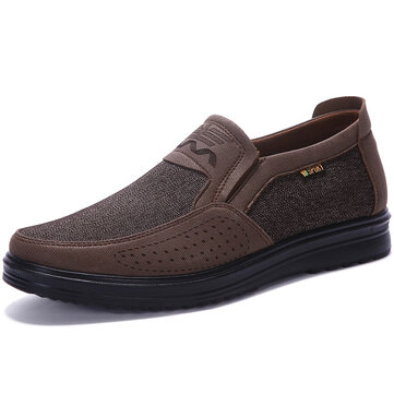 Men Soft Breathable Business Casual Slip On Oxfords
