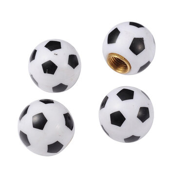 4PCS 8mm Stylish Football Design Tire Wheel Tyre Valve Caps Cover for Car Truck Motorcycle Bike