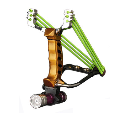 IPRee® Outdoor Tactical Metal Slingshot Gomma Banda Catapult campeggio Kit di gioco per imbragatura