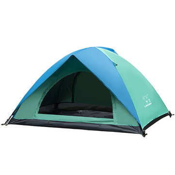 Outdoor 2 People Tent Waterproof Double Layer UV Sunshade Shelter Canopy Camping Hiking