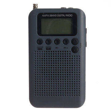 Portable Digital FM AM Radio LCD 2 Bands Stereo Mini Receiver Off-road Enthusiasts Jogging
