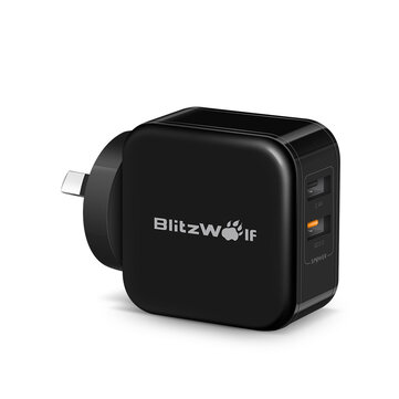 BlitzWolf® BW-S6 QC 3.0+2.4A 30W Dual USB Charger AU Adapter for iphone 8 8 Plus iphone X Xiaomi