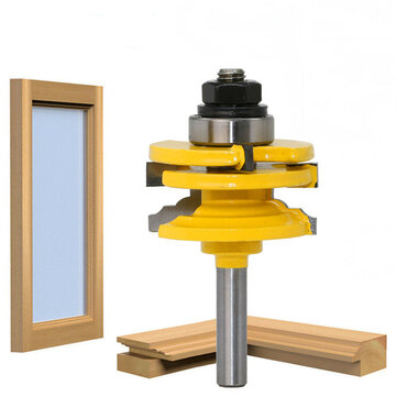 8mm Shank Glass Door Rail And Stile Reversible Router Bit Cutting Wood Milling Cutter For Wood Tool Bits