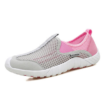 Large Size Women Mesh Outdoor Slip On Flat Sneakers