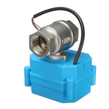 DC 12V 1/2inch NPT DN15 2-Way Electric Motorized Ball Valve