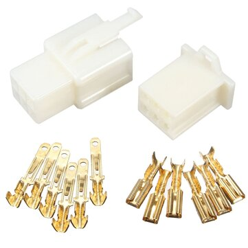 6 Way 2.8mm Connector Terminal Kit For Car Motorcycle Pin Blade Scooter ATV