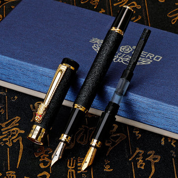 Hero 6006 0.5MM 0.8MM Double Head Fountain Pen Frosted Texture For Gift School Business