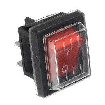 220V16A 20A 125V ON/OFF Red Switch Spare Waterproof Switch For Industrial Vacuum Suction Machines