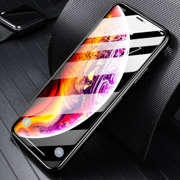 Bakeey 5D Curved Edge Cold Carving Screen Protector For iPhone XS Max Anti Fingerprint Tempered Glass Film