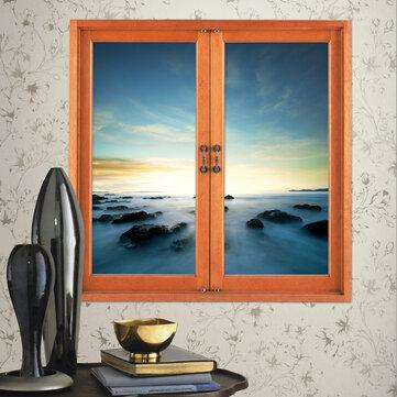 Visión artificial ventana de las habitaciones etiquetas de la pared 3d pegatinas país de las hadas 3d de la pared aurora regalo de la decoración