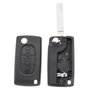 Car 3 Buttons Key FOB Remove Case Shell With Blade For Citroen Berlingo