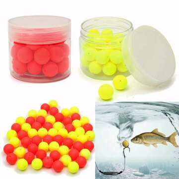 ZANLURE 30Pcs 12mm Round Tackles Flavor Feeder Beads Floating Fishing Lure Carp Baits
