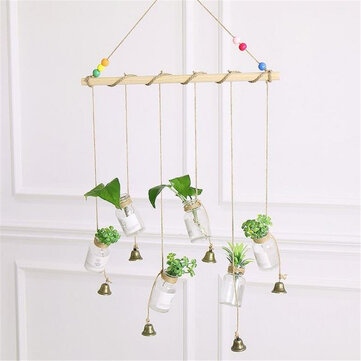 Hanging Clear Glass Flower Plant Hydroponic System Vase Terrarium Container Home Garden