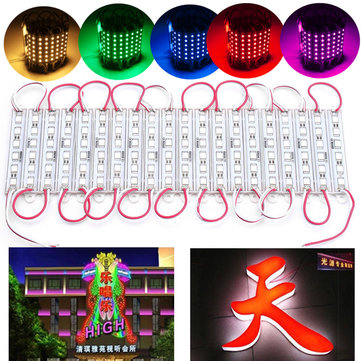 20PCS SMD5050 6LED Módulo Fairy Strip Impermeable Firmar Diseño DIY Luz DC12V