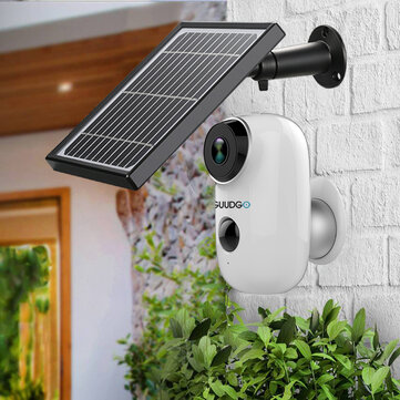 GUUDGO A3 and Solar Panel 1080P Wireless Rechargeable Battery-Powered Security Camera for Outdoor Indoor Home Surveillance 130degree Wide View 2-Way Audio Starlight Night Vision PIR Motion Sensor