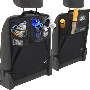 Universal Car Back Seat Kick Mat Protector Cover Kid Keep Clean With Storage Bolsa